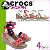 商品説明  【多種多彩なラインナップが魅力の「crocs」!!】 ・グラフィカルなキャンバス素材のス...