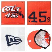NEW ERA 59FIFTY キャップ ニューエラ ベースボールキャップ 帽子 COLT45S オレンジ×ホワイト メンズ