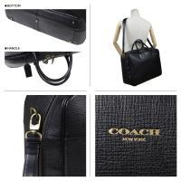 コーチ スーツケース メンズ COACH 本革 ブリーフケース ビジネスバッグ F93282 ブラック