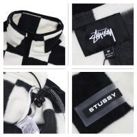 ステューシー STUSSY ジャケット メンズ フリース CHECKERED MOCK NECK ブラック オフホワイト 118275