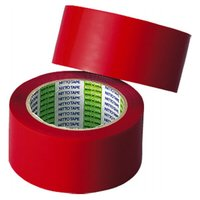 ●素材:ポリプロピレン(非伸縮テープ)●カラー:赤(R)●サイズ: 50 mmX 50 m●2巻入●...