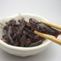 信州の郷土珍味、いなごの佃煮(甘露煮)です。長野県では今でも稲穂を刈った後、獲って甘露煮にしている地...