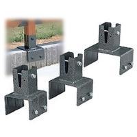 (6cm角用)ラティスポスト固定金具 ブロック用 LPK-120B(厚さ12cmのブロック対応) ア...