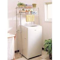 洗濯機周りの収納 整理に便利なメタルミニです。最大幅64cm以下の全自動洗濯機に対応しています。タオ...