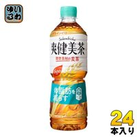 コカ・コーラ 爽健美茶 健康素材の麦茶 600ml ペットボトル 24本入〔ギフト対象外〕