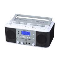 ダブルカセットDCラジオ カセット録音 CDプレーヤー CCR-17W-PIF softya