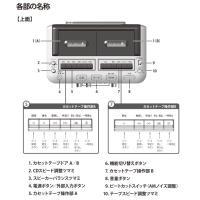 ダブルカセットDCラジオ カセット録音 CDプレーヤー CCR-17W-PIF softya 05