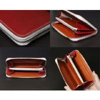 アミティエ AMT-508 日本製ヌメ革ランドファスナー長財布 レッド (HY)|softya|03