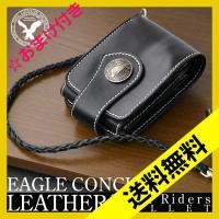 EAGLE CONCHO バッファローレザーショートライダースウォレット AN-849 ブラック (HY)|softya