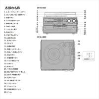 レコード CD ラジオ&カセット 搭載多機能プレーヤー ドーナッツ盤用アダプタ付き カセットテープ再生 RTC-29-PIF softya 03