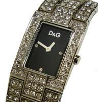D&G TIMEの超人気のC'EST CHIC ゴールドSSベルト時計。人気のラインストーン...