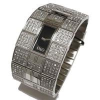 D&G TIMEのQueen MaryレディースSSベルト時計。シックなブラックフェイスと豪...