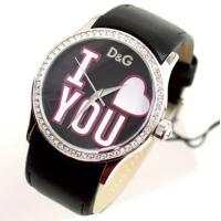 D&G TIMEの人気のBE MINE レディース革ベルト時計。定番人気のブラック!! ◆商...