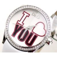 D&G TIMEの人気のBE MINE レディース革ベルト時計。定番人気のホワイト!! ◆商...