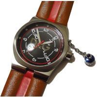 D&G TIMEの人気モデルZANGO(ザンゴ)メンズ腕時計。本革の茶×赤のコンビベルトがク...