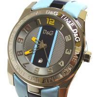 D&G TIMEのUNOFFICIALメンズ時計。ライトブルー×ネイビーの爽やかな色合いのベ...
