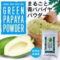 グリーン パパイヤ パウダー 80g  自然栽培された新鮮な青パパイヤを100%まるごと使用 果実の...
