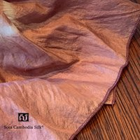 シルクスカーフ スカーフ 父の日 カンボジアシルクスカーフ ホワイトデー プレゼント ギフト 着物 紫 草木染め