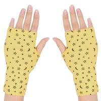 uxcell フィンガーレスグローブ フィンガーレス手袋 指なし手袋 グローブレディース グローブ 1足