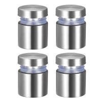 uxcell ガラススタンドオフ サインナット ステンレス鋼 広告釘 直径19mm 長さ25mm 壁マウント 4個入り