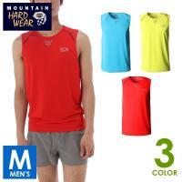 マウンテンハードウェア ミントヒルクールスリーブレス T メンズ ノースリーブシャツ トレイルランニ...