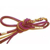 ★振袖用の正絹の丸ぐけ帯締めです。  ★とても豪華で可愛いパールビーズの飾りがついていますので華やか...
