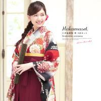 卒業式におすすめなレディース袴セット   ■色 着物 赤や黒など 袴 臙脂色  ■素材 着物 ポリエ...