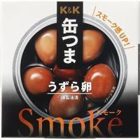 ★税抜2500円以上で送料無料★/K&K 缶つまスモーク うずら卵(かんつま 缶つまSmoke うず...