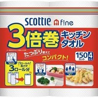 スコッティ ファイン 3倍巻き キッチンタオル ( 150カット*4ロール )/ スコッティ(SCOTTIE)