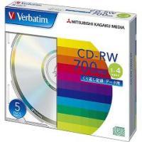 ★税抜2500円以上で送料無料★/バーベイタム CD-RW 700MB PCデータ用 4倍速 5枚 ...