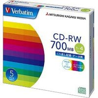★税抜1900円以上で送料無料★/バーベイタム CD-RW 700MB PCデータ用 4倍速 5枚 ...
