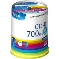 ★税抜2500円以上で送料無料★/バーベイタム CD-R データ用 700MB 48倍速 SR80F...