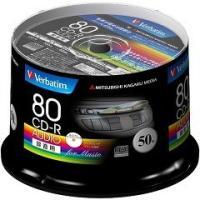 ★税抜1900円以上で送料無料★/バーベイタム CD-R オーディオ 80分 50枚 MUR80FP...