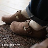 暮らしに溶け込む、やさしい味わいのコンフォートシューズ レディース 靴 フラット ぺたんこ フェイクスエード 切り替え 異素材 ベルト soulberryオリジナル