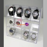腕時計のコレクションラックです。G-SHOCKやスウォッチにも対応。最大12個収納でき、クリアーなケ...