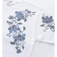 和柄Tシャツ むかしむかし 半袖 Tシャツ 唐草白 XS S M L LL 3L サイズ |sousakuzakka-koto|03