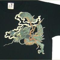 和柄Tシャツ 半袖 Tシャツ むかしむかし S M L LL 3L 緑龍 sousakuzakka-koto 03