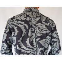 長袖シャツ 衣櫻 デニムシャツ 和柄 トライバル鳳凰柄 長袖 綿シャツ メンズ sousakuzakka-koto 04