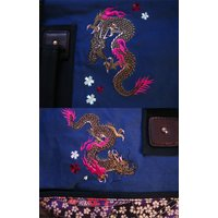 和柄 リュック 和柄バッグ リュックサック [バッグ]2way 鶴虎 双龍 鯉 刺繍 帆布バッグ|sousakuzakka-koto|14