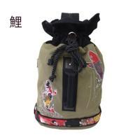 和柄 リュック 和柄バッグ リュックサック [バッグ]2way 鶴虎 双龍 鯉 刺繍 帆布バッグ|sousakuzakka-koto|15