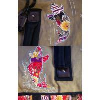 和柄 リュック 和柄バッグ リュックサック [バッグ]2way 鶴虎 双龍 鯉 刺繍 帆布バッグ|sousakuzakka-koto|16