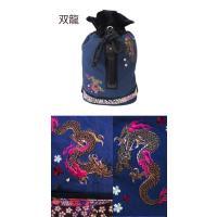和柄 リュック 和柄バッグ リュックサック [バッグ]2way 鶴虎 双龍 鯉 刺繍 帆布バッグ|sousakuzakka-koto|03