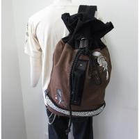 和柄 リュック 和柄バッグ リュックサック [バッグ]2way 鶴虎 双龍 鯉 刺繍 帆布バッグ|sousakuzakka-koto|06