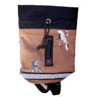 和柄 リュック 和柄バッグ リュックサック [バッグ]2way 鶴虎 双龍 鯉 刺繍 帆布バッグ|sousakuzakka-koto|09