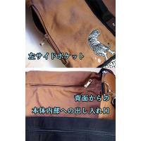 和柄 リュック 和柄バッグ リュックサック [バッグ]2way 鶴虎 双龍 鯉 刺繍 帆布バッグ|sousakuzakka-koto|10