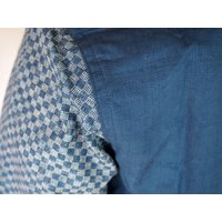 父の日 半袖シャツ 和柄シャツ 市松模様 切り替え 衣櫻 和柄 和風 日本製 国産 SA1209 M L XL XXL|sousakuzakka-koto|16