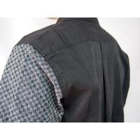 父の日 半袖シャツ 和柄シャツ 市松模様 切り替え 衣櫻 和柄 和風 日本製 国産 SA1209 M L XL XXL|sousakuzakka-koto|07