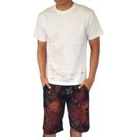 和柄Tシャツ と ハーフパンツ、巾着の3点セット 絡繰魂 金魚刺繍旅のSET UP sousakuzakka-koto 12