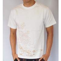 和柄Tシャツ と ハーフパンツ、巾着の3点セット 絡繰魂 金魚刺繍旅のSET UP sousakuzakka-koto 14