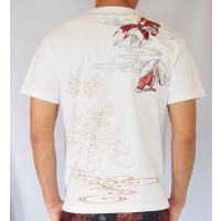 和柄Tシャツ と ハーフパンツ、巾着の3点セット 絡繰魂 金魚刺繍旅のSET UP sousakuzakka-koto 15